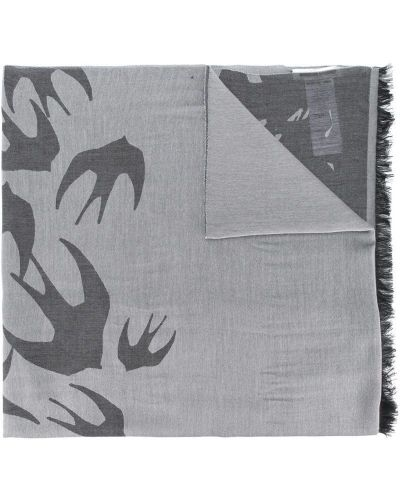 Серый шарф с бахромой Mcq Alexander Mcqueen