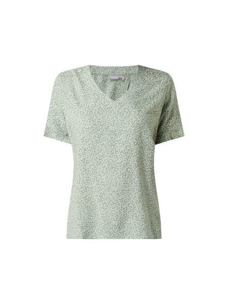 Zielona bluzka krótki rękaw z wiskozy Fransa