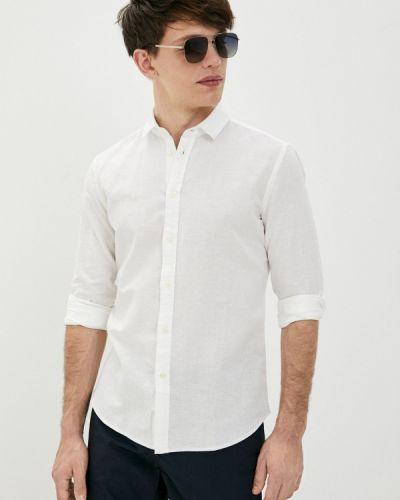 Белая рубашка с длинными рукавами Sisley