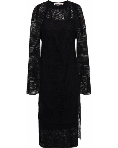 Облегченное льняное черное платье Mcq Alexander Mcqueen