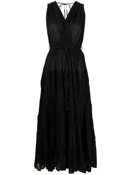 Открытое черное платье макси с открытой спиной P.a.r.o.s.h.