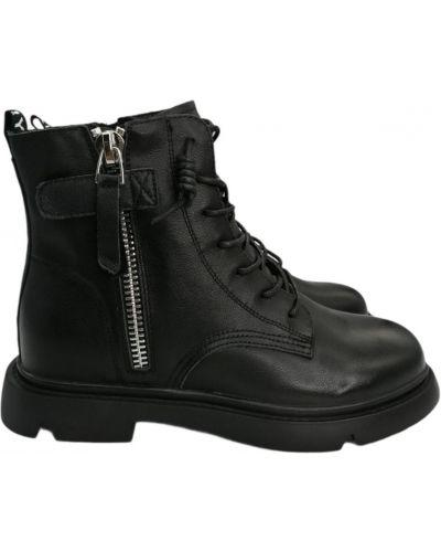 Кожаные ботинки - черные Boss Victori