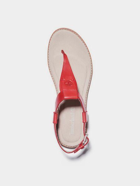 Красные сандалии Timberland