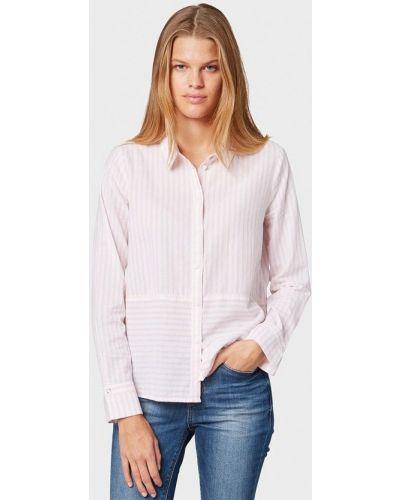 Рубашка с длинным рукавом розовый индийский Tom Tailor Denim
