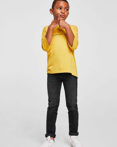 Джинсы с карманами эластичные Mango Kids