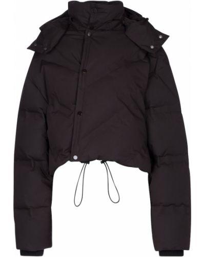 Коричневая пуховая дутая куртка Bottega Veneta
