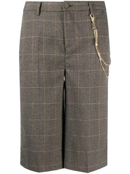Brązowy szorty z wiskozy w połowie kolana Liu Jo
