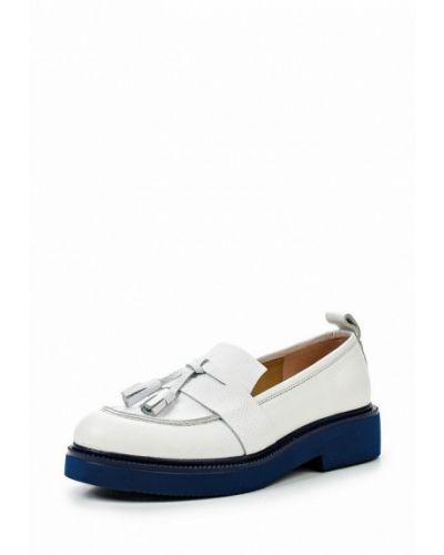 Белые кожаные туфли Alpino