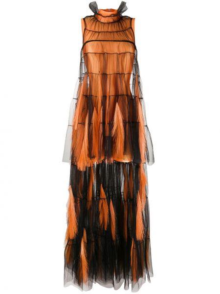 Вечернее платье с бахромой на молнии Loulou