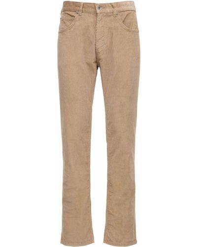 Spodnie sztruksowe khaki z paskiem Patagonia