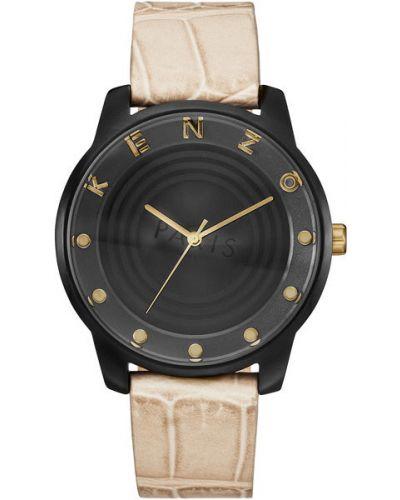 Часы водонепроницаемые с кожаным ремешком с логотипом Kenzo