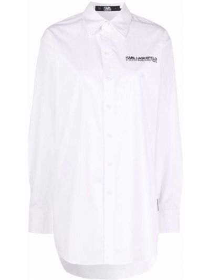 Белая рубашка длинная Karl Lagerfeld
