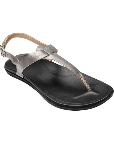 Повседневные кожаные черные стринги Olukai