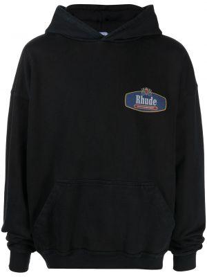 Czarny klasyczny sweter Rhude