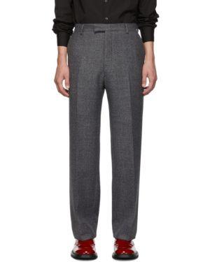 Прямые брюки с карманами с завышенной талией Prada