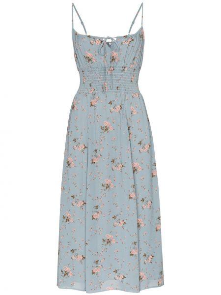 Платье миди из вискозы платье-солнце Reformation