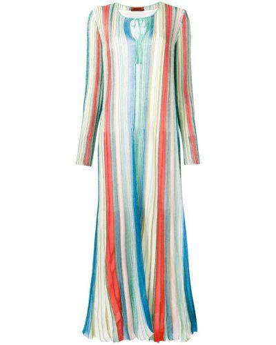 Платье макси плиссированное цветное Missoni