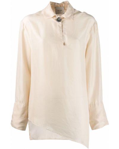 Блузка с длинным рукавом в полоску с воротником-стойкой Alysi
