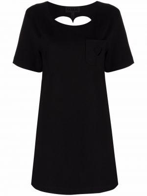 Платье рубашка - черное Paskal