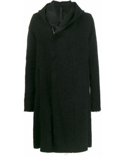 Черное длинное пальто на молнии Poème Bohémien