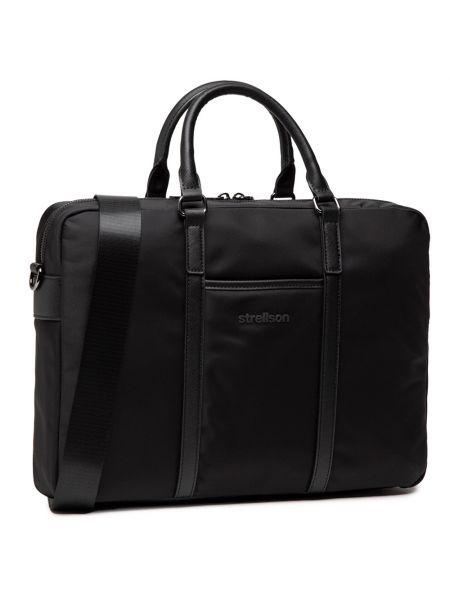 Czarna torba na laptopa Strellson