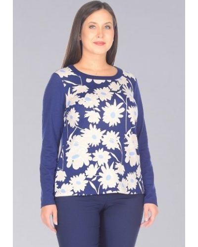Блузка с длинным рукавом с цветочным принтом прямая Amarti