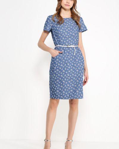 Платье миди с цветочным принтом с поясом Finn Flare