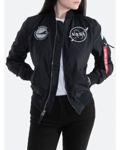С рукавами черная куртка MA-1 двусторонняя Alpha Industries
