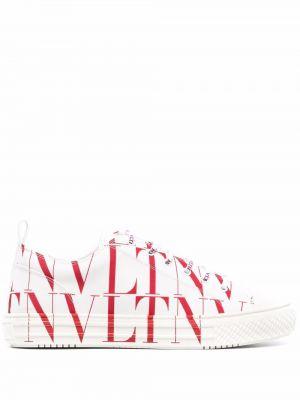 Białe buty sportowe na obcasie Valentino Garavani