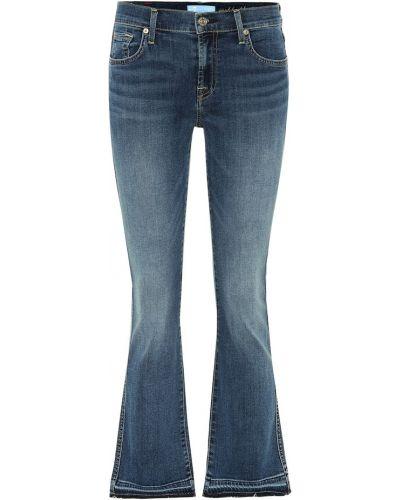Укороченные джинсы mom синие 7 For All Mankind