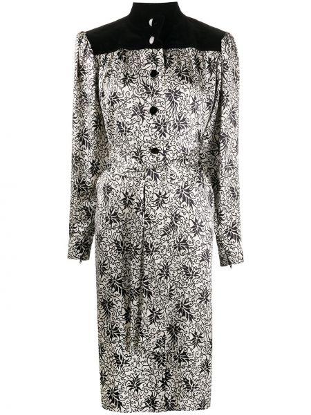 Платье с поясом винтажная с завышенной талией Yves Saint Laurent Pre-owned