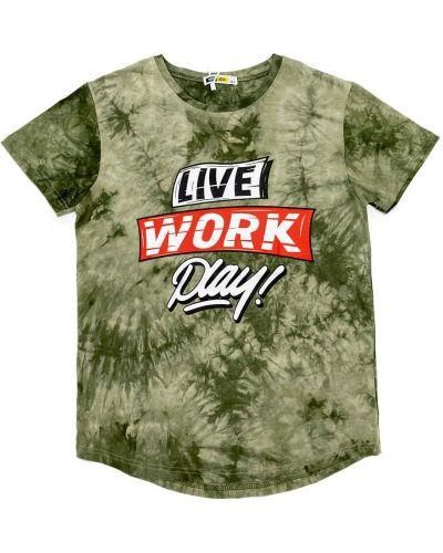 Зеленая футболка Jec
