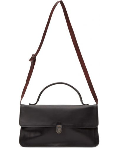 С ремешком черная маленькая сумка с пряжкой с тиснением Cherevichkiotvichki