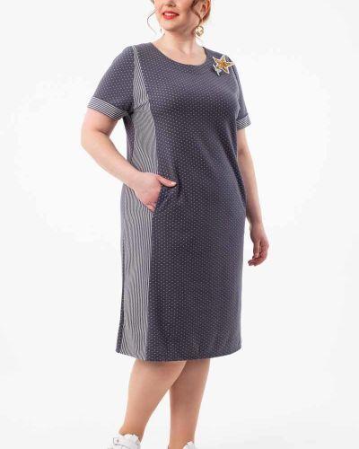 Платье на молнии с манжетами с карманами с вырезом Wisell