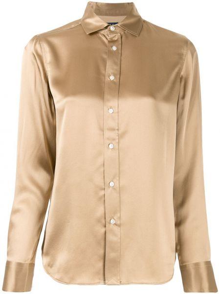 Bluzka z długim rękawem jedwabna długa Polo Ralph Lauren