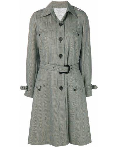 Шерстяное белое пальто классическое с капюшоном Christian Dior Pre-owned