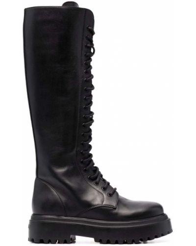 Ботильоны на шнуровке - черные Le Silla