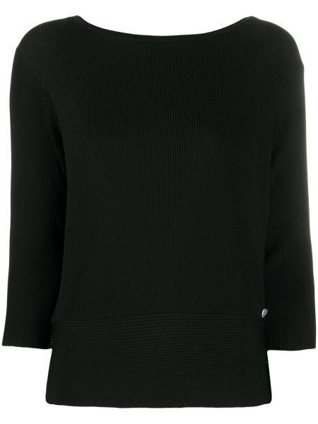 Черный свитер в рубчик Twin-set