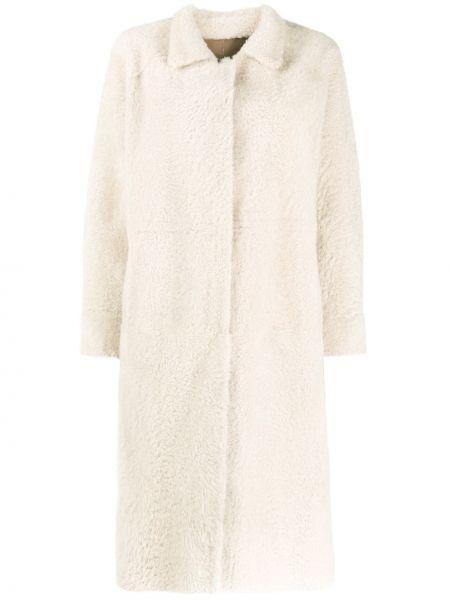 Длинное пальто без воротника двустороннее Liska