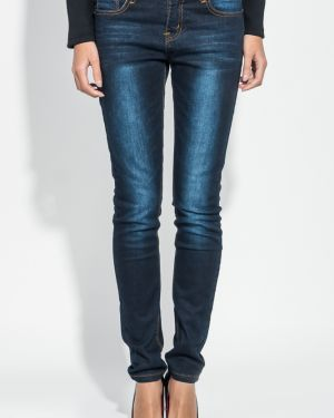 Потертые джинсы-скинни с пайетками Time Of Style