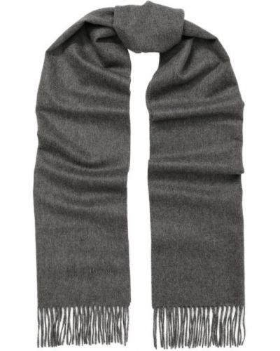 Серый шарф с бахромой Brioni