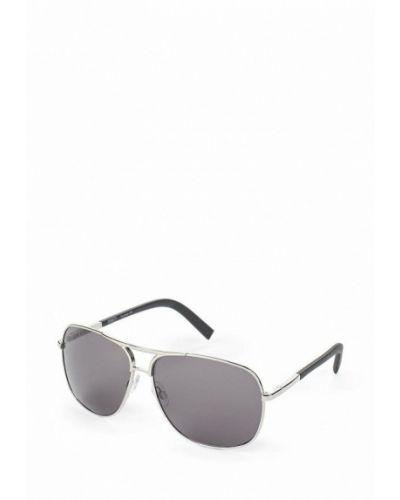 Солнцезащитные очки серебряного цвета Fabretti