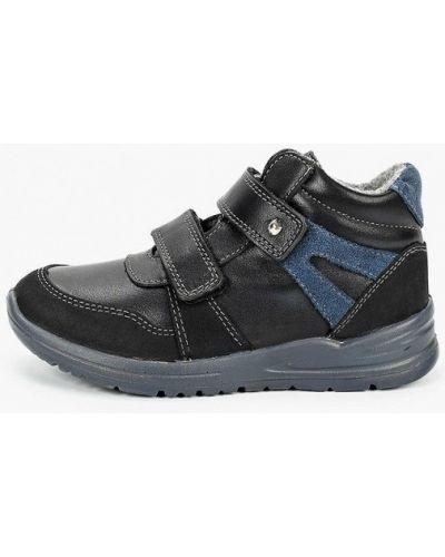 Кожаные черные ботинки котофей