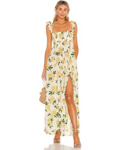 Нейлоновое белое платье с карманами Agua Bendita