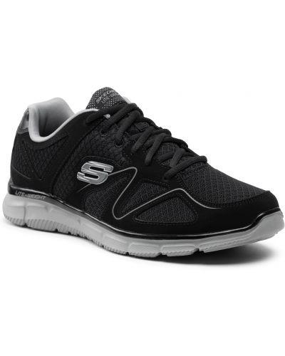 Buty sportowe skorzane - czarne Skechers