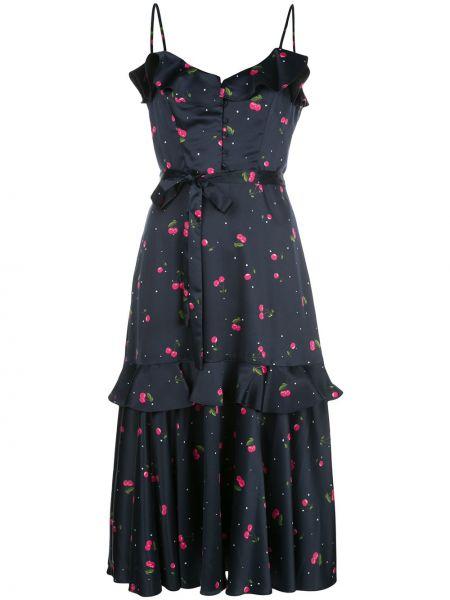 Платье миди на пуговицах на бретелях Milly
