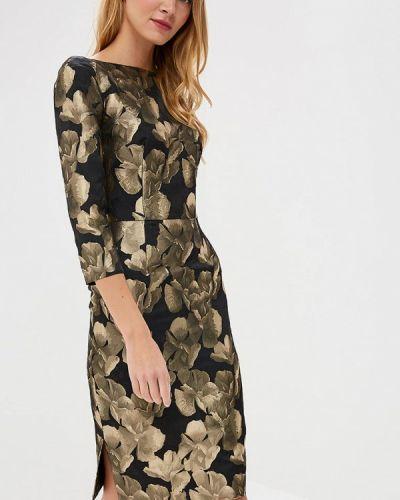 Вечернее платье осеннее золотой Madam T