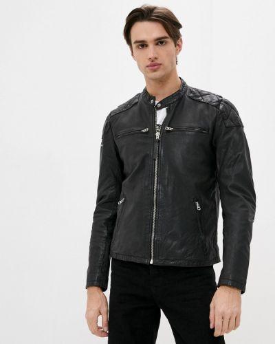 Черная кожаная куртка Superdry