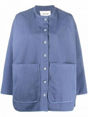 Синяя хлопковая куртка Henrik Vibskov
