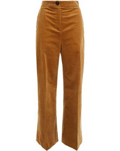 Brązowe spodnie sztruksowe Alexachung